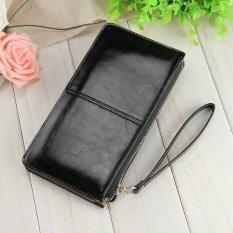 Victory Fashion Woman Long Han Edition Handbag Candy Color Shiny Leather Mobile Phone Wallet Black Intl Unbranded Generic ถูก ใน จีน