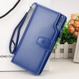 ราคา Victory Han Edition New Leisure Multi Function Wallet Long Zipper Buckles Hand Bag Blue Intl Unbranded Generic
