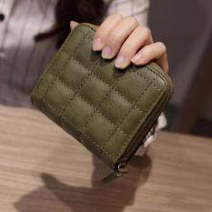 ราคา Victory Ma Am Korean Mini Wallet Zipper Short Wallet Embroidered Wallet Green Intl ถูก