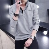ส่วนลด Victory New Fashion Men Polo Shirts Long Sleeve Solid Color Large Size T Shirt Grey Intl Unbranded Generic จีน