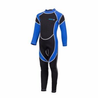 Victory Outdoors Water Sports Surf Wear 2.5mm Diving suit Keep warm Neoprene Snorkeling clothes Children swimsuit Long sleeve(Blue) - intl