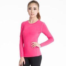ขาย ผู้หญิงที่ประสบความสำเร็จแขนยาวเสื้อชั้นกระชับฟิตเนสโยคะ เสื้อยืดเสื้อผ้าดูดซับความชุ่มชื้น Rose จีน ถูก