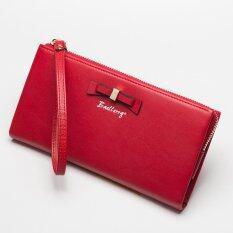ซื้อ Victory Woman Long Zipper Han Edition Bowknot Wallet Red Intl ถูก จีน