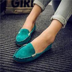 ทบทวน ที่สุด Victory Women Flat Shoes Han Edition Joker Leisure Doug Shoes Green Intl
