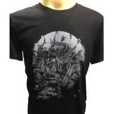 ทบทวน เสื้อยืดสกรีนลาย นักรบไวกิ้ง Viking สีดำ Unbranded Generic