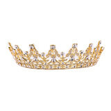 ส่วนลด Vintage Crystal Gold Crown Bridal Headwear Wedding Tiara Hair Accessories Unbranded Generic