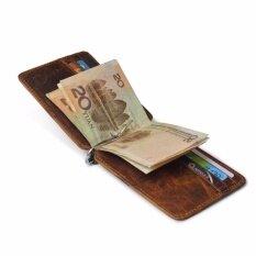 เหล้าองุ่นกระเป๋าสตางค์กระเป๋าสตางค์เงินบางที่เรียบง่ายกระเป๋าสตางค์ Rfid การปิดกั้นสีน้ำตาลเข้ม - นานาชาติ By You And Me