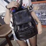 ราคา กระเป๋าเป้สะพายหลัง กระเป๋าเป้เกาหลี กระเป๋าสะพายหลังผู้หญิง สีดำ Vlj021Th