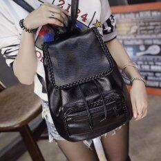 ซื้อ กระเป๋าเป้สะพายหลัง กระเป๋าเป้เกาหลี กระเป๋าสะพายหลังผู้หญิง สีดำ Vlj021Th ถูก
