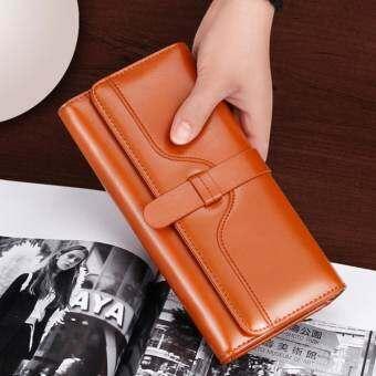 VN Fashion กระเป๋าเงินผู้หญิง กระเป๋าสตางค์ ใบยาว กระเป๋าสตางค์ตามวันเกิด รุ่น VW-001 (สีน้ำตาล)-