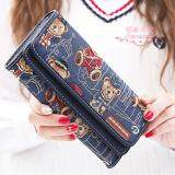 ราคา Vn Fashion กระเป๋าสตางค์ใบยาว กระเป๋าเงินผู้หญิง กระเป๋าสตางค์น่ารัก ลายหมี รุ่น Vw 033 สีกรม เป็นต้นฉบับ