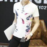 ขาย เสื้อยืดเกาหลีสีขาวในช่วงฤดูร้อนชาย สีขาว W06 ถูก