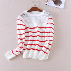 Wa183 เสื้อกันหนาวเย็บฤดูใบไม้ร่วงและฤดูหนาวใหม่ลม สีแดงลาย ฮ่องกง