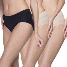 Wacoal Best seller Super Soft panty 1 เซ็ท 3 ชิ้น (สีเบจ,สีดำ) - WU3811BEX2+WU3811BLX1