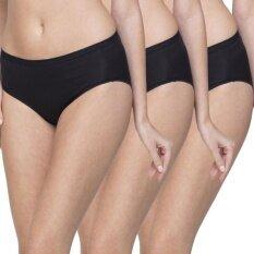 Wacoal Best Seller Super Soft panty 1 เซ็ท 3 ชิ้น (สีดำ/BLACK) - WU3722BLX3