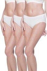Wacoal Best Seller Super Soft panty 1 เซ็ท 3 ชิ้น (สีครีม/CREAM) - WU3722CRX3