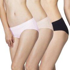 Wacoal Best Seller Body Seamless panty 1 เซ็ท 3 ชิ้น (สีเบจ,สีดำ,สีชมพู) - WU1598BE+WU1598BL+WU1598PI