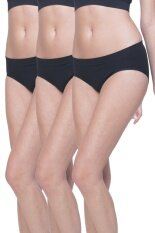 Wacoal Best Seller Body Seamless panty 1 เซ็ท 3 ชิ้น (สีดำ/BLACK) - WU1598BLX3