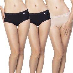 Wacoal กางเกงใน Dear hip short 1 เซ็ท 3 ชิ้น (สีเบจ 1 ชิ้น