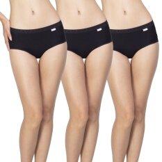 Wacoal กางเกงใน Dear hip short 1 เซ็ท 3 ชิ้น (สีดำ 3 ชิ้น)  - WU3687BL + WU3687BL + WU3687BL