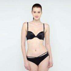 ขาย Wacoal Fashion Bra เซ็ทชุดชั้นในกางเกงชั้นใน บราตะขอหน้า 3 4 Cup สีดำ Black Mm1488Bl Mm6238Bl Wacoal ออนไลน์