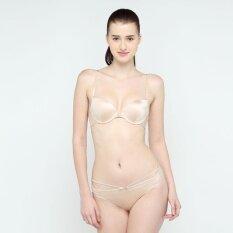 Wacoal Fashion bra เซ็ทชุดชั้นในกางเกงชั้นใน บราตะขอหน้า 3/4 Cup (สีเนื้อ/NUDE) - MM1488NN + MM6238NN