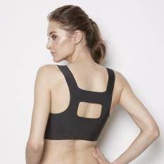 Wacoal Back Beauty Feel free bra บราสวมหัว (สีดำ/BLACK) - WH9B43BL