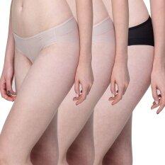 Wacoal Best Seller Feel Free panty 1 เซ็ท 3 ชิ้น (สีเบจ,สีดำ) - WU1738BEX2 + WU1738BLX1