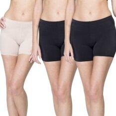 Wacoal กางเกงใน Hot pants 1 เซ็ท 3 ชิ้น (สีเบจ 1 ชิ้น