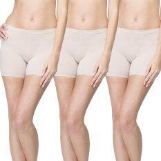 Wacoal กางเกงใน Hot pants 1 เซ็ท 3 ชิ้น (สีเบจ 1 ชิ้น)  - WU4828BE + WU4828BE + WU4828BE