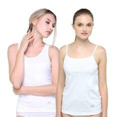 Wacoal Lingerie เสื้อกล้ามบังทรง และ เสื้อสายเดี่ยวบังทรง 1 เซ็ท 2 ชิ้น (สีขาว 2 ชิ้น ) - WH2A63WH +WH2A64WH