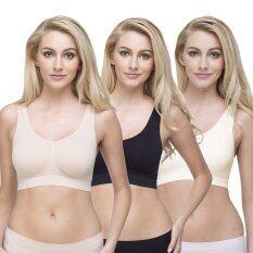 Wacoal Lingerie Best seller Body Seamless Bra บราสวมหัว 1 เซ็ท 3 ชิ้น - WH9B99BE-WH9B99BL-WH9B99CR