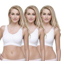 Wacoal Lingerie Best seller Body Seamless Bra บราสวมหัว 1 เซ็ท 3 ชิ้น - WH9B99WH X3
