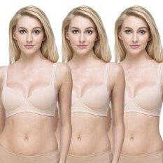 Wacoal Lingerie Best seller Super soft bra  บราสวมหัว 1 เซ็ท 3 ชิ้น (สีเบจ 3 ชิ้น) - WH9A15BE X3