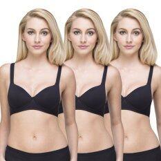 ขาย Wacoal Lingerie Best Seller Super Soft Bra บราสวมหัว 1 เซ็ท 3 ชิ้น สีดำ 3 ชิ้น Wh9A15Bl X3 ถูก ไทย