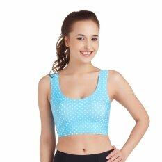 Wacoal  Lingerie Feel free bra บราสวมหัว (สีน้ำเงินอมเขียว/BLUE SAPPHIRE) - WH9B39BS