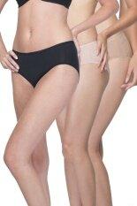 Wacoal Best seller Super Soft panty 1 เซ็ท 3 ชิ้น (สีเบจ,สีดำ,สีโอวัลติน) - WU3811BE+WU3811BL,WU3811OT