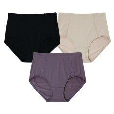 Wacoal Support panty กางเกงในเก็บประชับ (สีเบจ,สีดำ,สีน้ำตาลไหม้) - WU4836BE+WU4836BL+WU4836BT