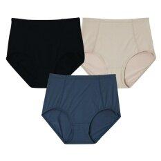 Wacoal Support panty กางเกงในเก็บประชับ (สีเบจ,สีดำ,สีเทา) - WU4836BE+WU4836BL+WU4836GY