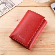 ขาย กระเป๋า กระเป๋าสตางค์ ผู้หญิง กระเป๋าตัง กระเป๋าเงิน กระเป๋าใส่เงิน กระเป๋าใส่บัตร กระเป๋าใส่นามบัตร หนังกันน้ำ ทรงสั้น Wallet For Women Lady Red Wlw088