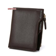 ซื้อ Wallets Card Wallets Coin Wallets Leather Simple Checkbook Card Holder Bifold Wallet For Men Brown Intl จีน