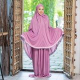 Waris Muslim ชุดละหมาด Tk30 สีม่วง ใหม่ล่าสุด