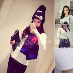 โปรโมชั่น เสื้อแขนยาว เสื้อแขนยาวบุขน เสื้อกันหนาว เสื้อบุขน ลองจอน ฮีทเทค Warm Long Shirt สีขาว Winter Love Song