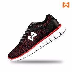 ทบทวน Warrix รองเท้า Maximum Runner Wf 1302 Ra สีแดง ดำ Warrix