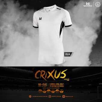 WARRIX SPORT เสื้อฟุตบอลพิมพ์ลาย WA-1542-WA (สีขาว-ดำ)-