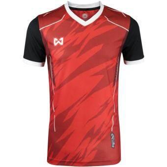 WARRIX  SPORT เสื้อ WA-1550-RA  (สีแดง-ดำ)-