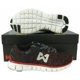 ขาย ซื้อ ออนไลน์ รองเท้าวิ่ง รองเท้าจ๊อกกิ้ง Warrix Wf 1302 แดงดำ