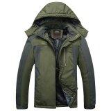 โปรโมชั่น Waterproof L 9Xl Men New Outdoor Oversize Windproof Coat Mountaineering Clothing Thickening Cashmere Jackets Coats Army Green Intl จีน