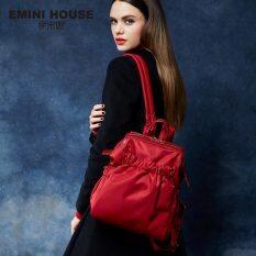 Waterproof Nylon Backpack Fashion Women Backpack Multifunction Girls Travel Luggage Bag กระเป๋าเป้ Red จีน