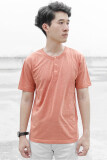 ราคา What S Up Basic Button Neck T Shirt เสื้อยืด คอกระดุม แฟชั่น ผู้ชาย Orange เป็นต้นฉบับ
